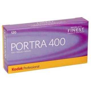 Kodak Portra 400 color nagative 120 film
