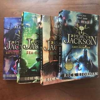 Percy Jackson set by Rick Riordan