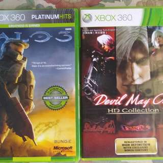 Halo 3 & Devil May Cry xbox360 original games