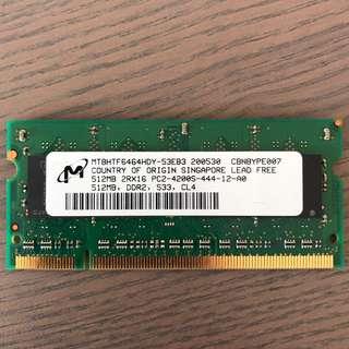 Micron 512mb DDR2 533mhz RAM