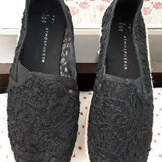 Espadrille lace type (black)
