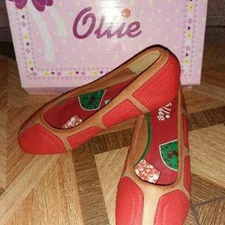 Ollie red orange dollshoes US 11, 3