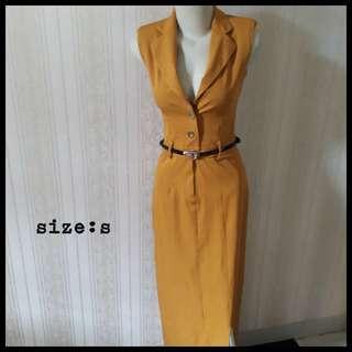 Yellow dress Amarantine