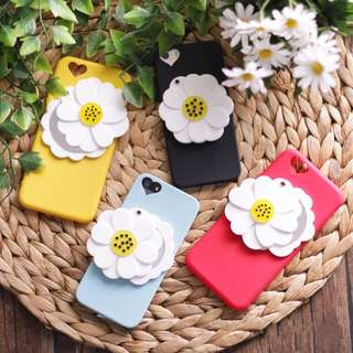 FOR CASING IPHONE 6+ 6S+ - FLOWER MIRROR CASE