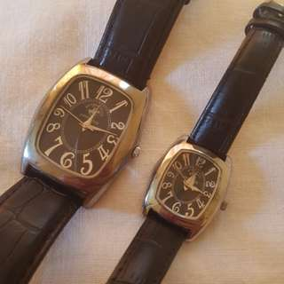 Authentic Beverly Hills Polo Club Couple watch black