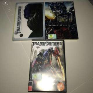 Transformers Trilogy Movie DVD