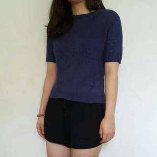 Navy wool shirth