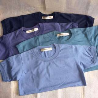Assorted colors - Plain shirts for 4-6yo boys