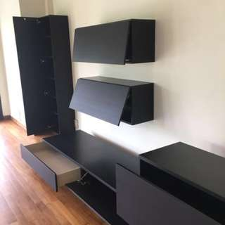 TV wall unit system