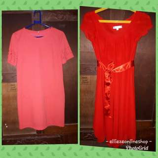 Unbranded Pink Dress and Semi Formal Red Dress