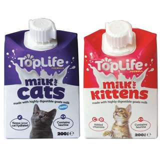 TopLife Milk 200ml, 4 packs