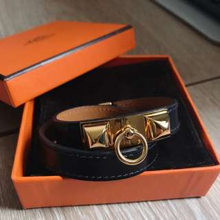 Authentic Hermes Rivale DoubleTour Bracelet GHW (95% new)