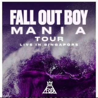 Mania Tour Fall Out Boy Physical Ticket