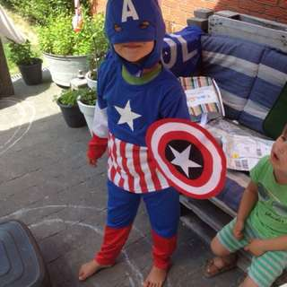 Instock Captain America Full Costume