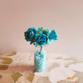 Paper Flower Mulberry Flower Blue