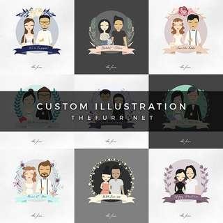 CUSTOM ILLUSTRATION - Freelance Graphic Designer