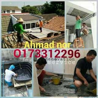 Renovation,tukang bumbung dan plumbing