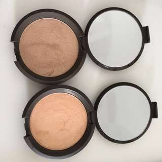 Becca pressed highlighters (Champagne Pop and Opal)