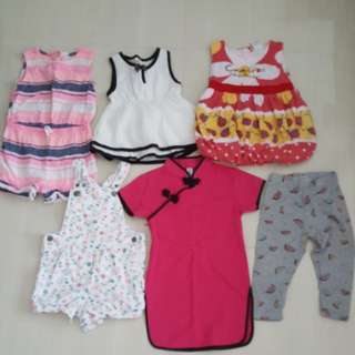 Pre loved girls clothes (12 to 24 months)