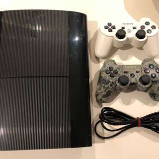 PS3 with 500MB hard drive and 2 controllers