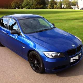 Bmw 320i Blue For Rental