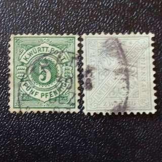 [lapyip1230] 龍騰堡大公國(德國統一前) 1860-1890年代 舊票一份 VFU