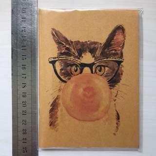 Watercolour cat notebook
