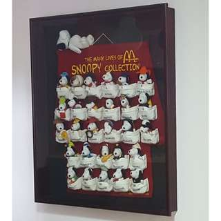 Mcdonald's SNOOPY COLLECTION Complete Collection Set With Frame