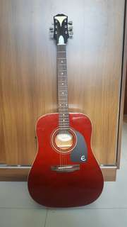 Wine Red Acoustic Guitar