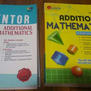 Additional Maths Assessment Books