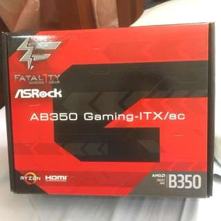 ASRock Fatal1ty AB350 Gaming-ITX/ac (AMD B350 Chipset)