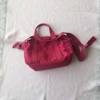 Original kipling pink sling bag