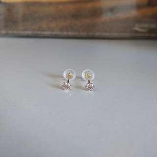 18k黃金10份1隻20份1對鑽石耳環 diamond earrings