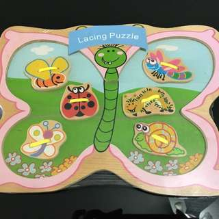 Butterfly lacing puzzle
