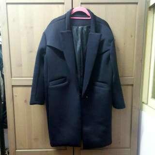 🚚 深藍太空棉大衣