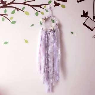 Handmade with love-Bears dreamcatcher: purple lilacs lavenders