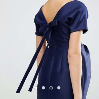 ASOS Maternity Dress with Bow Back