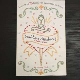 Sublime Stitching Craft Pad Book by Jenny Hart