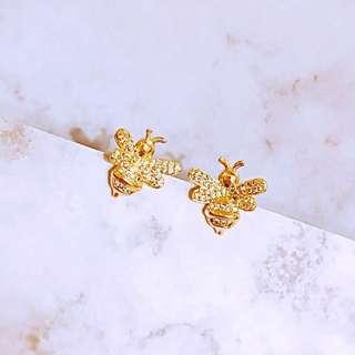 APM金色蜜蜂精緻耳環