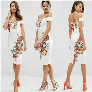 BEST SELLER OFF-SHOULDER FLORAL DRESS