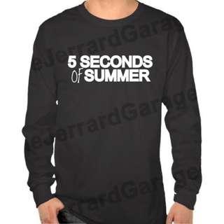 5SOS Five Seconds Of Summer (Wording) Long Sleeve