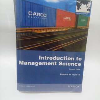 Introduction To Management Science ed 11 Taylor Bahasa Inggria
