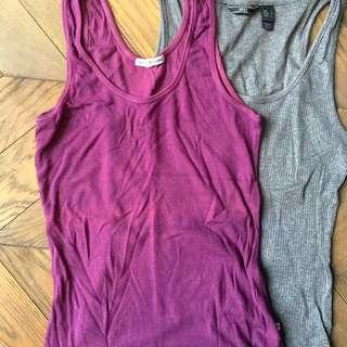 Basic sleeveless t-shirts