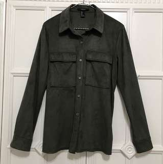 F21 - olive green long sleeves