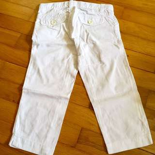 Old Navy White 3/4 Pants
