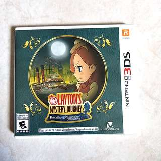 3DS Layton's Mystery Journey: Katrielle & the Millionaires' Conspiracy