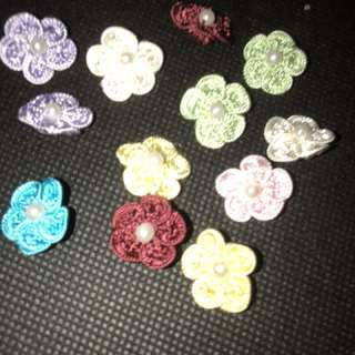 Decorative flowers for sewn on clothes