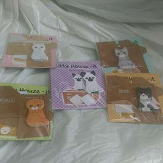 BN clearance (up to $2 each) 5pcs design cat memo pads