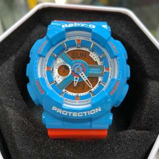 Casio Baby-G BA-110NC-2A BA110 ba-110nc-2a baby-g Blue Orange