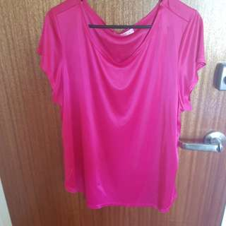 Supre pink satin-feel top